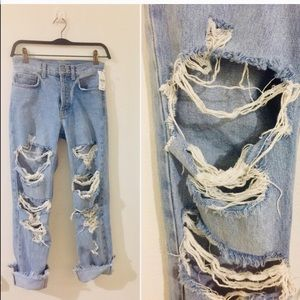 New! LF/Carmar Emilia Destroyed denim jeans NWT